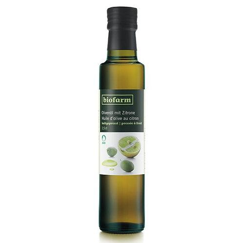 Bio Olivenöl mit Zitrone, Flasche 250 ml