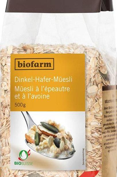 Bio-Dinkel-Hafer-Müesli, 500 g