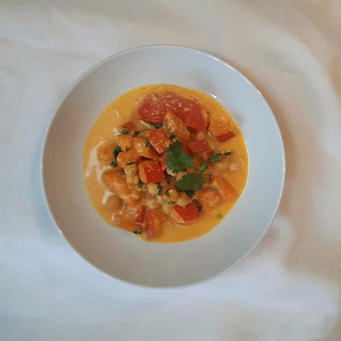 Kichererbsen-Kürbis-Curry, schnelle Variante