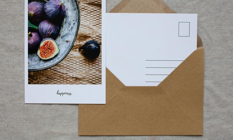 Postkarte Herbst-Winter imraum Impressionen Feigen