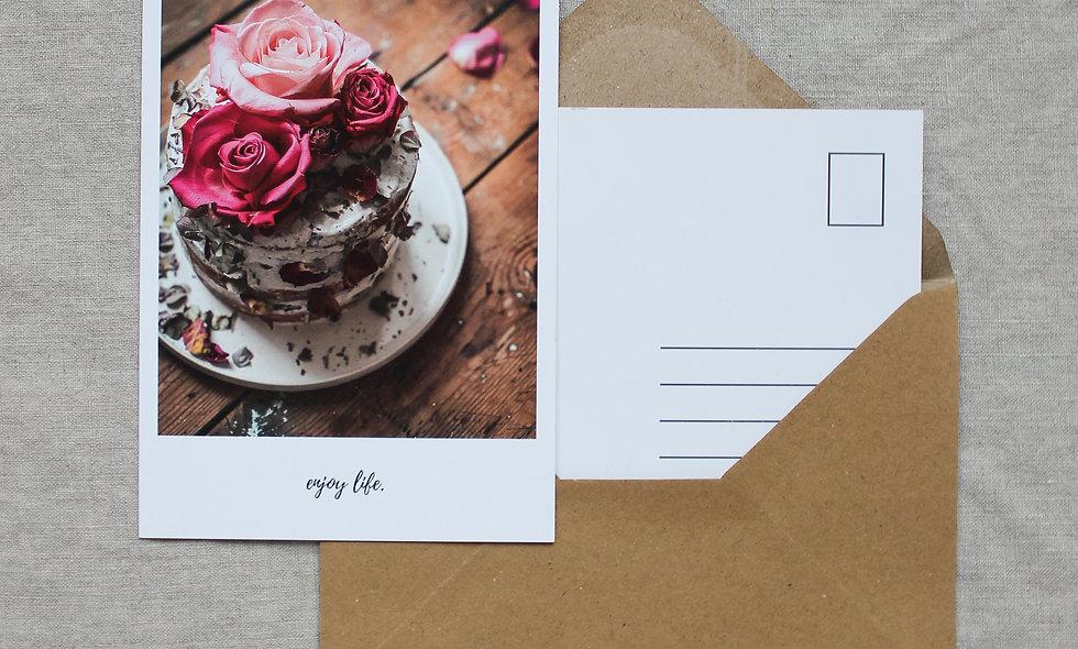Postkarte Herbst-Winter imraum Impressionen Torte