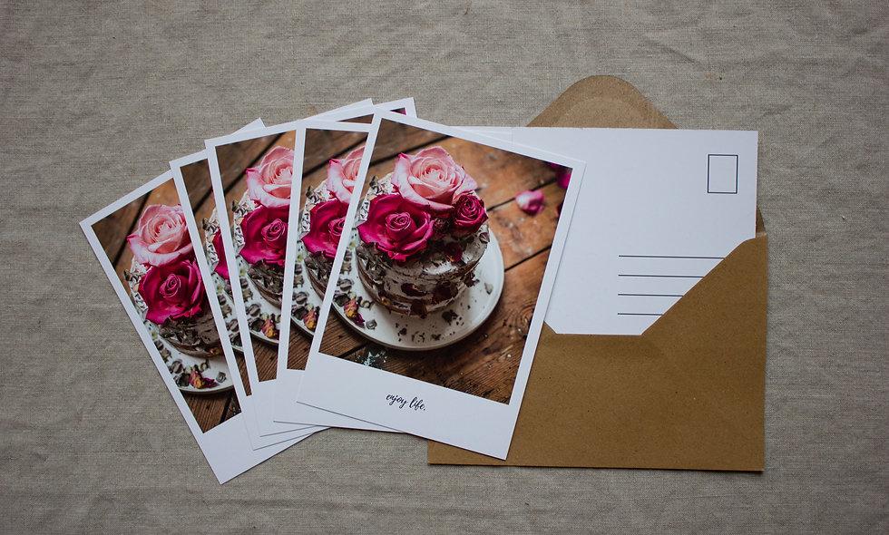 Postkartenset Herbst-Winter imraum Impressionen Rosen