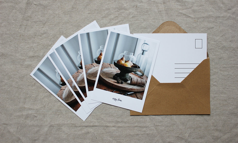 Postkartenset Herbst-Winter imraum Impressionen Birnen