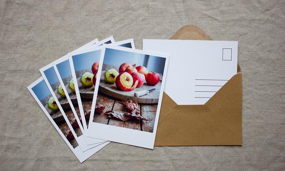 Postkartenset Herbst-Winter imraum Impressionen Äpfel
