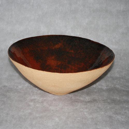 Light sandstone salad bowl 30