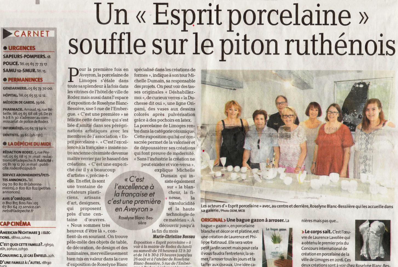 Porcelain spirit article
