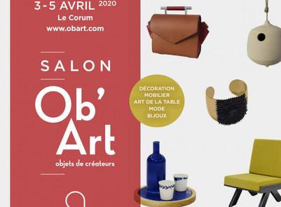 SALON DES MÉTIERS D'ART OB'ART MONTPELLIER  Reporté du 4 au 6 décembre 2020