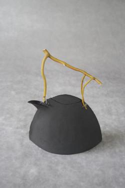 Théière Grès Noir + saule tortueux 5
