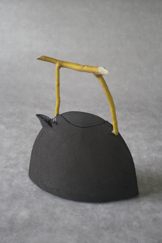 Théière Grès Noir + saule tortueux 7
