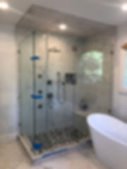 Frameless Glass Shower Enclosure by AMC.