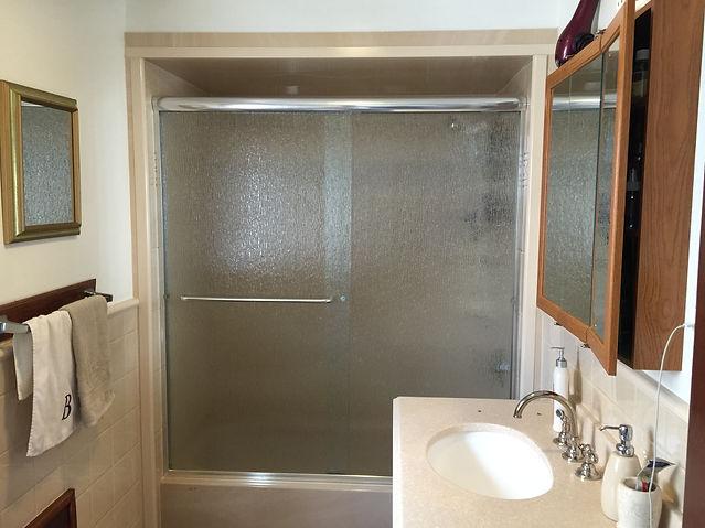 Semi Frameless Frosted Shower Doors
