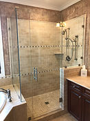 Frameless Glass Shower Enclosure by AMC New Clean Frash Design Installation