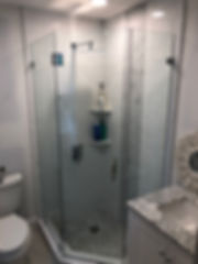 Frameless Neo-Angle Shower Enclosure by