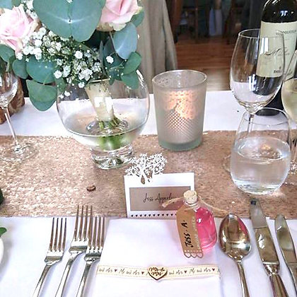 CHAMPAGNE SEQUIN RUNNER - EXTRA LARGE