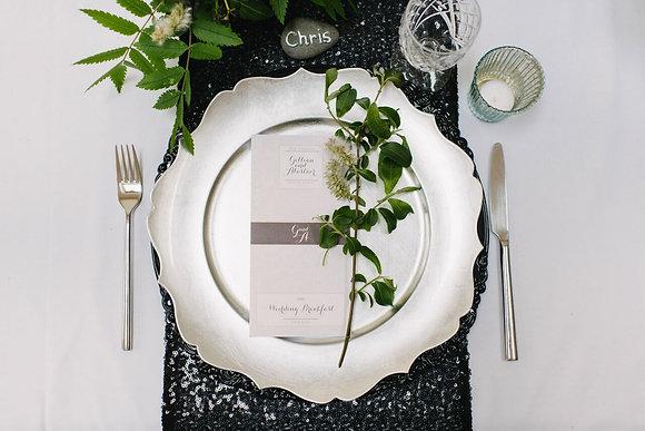 BLACK SEQUIN TABLE RUNNER