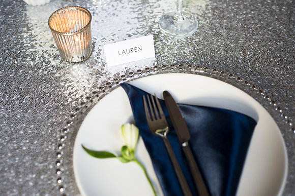 ROUND SILVER TABLECLOTH