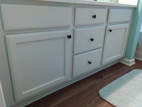 master bedroom vanity cabinet repaint