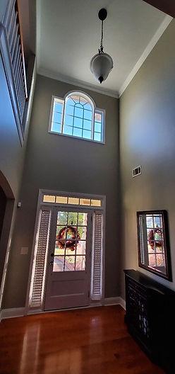 rich, beautiful foyer repaint