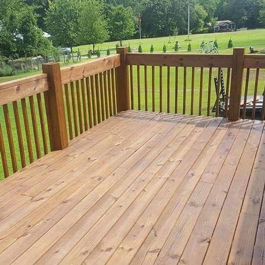 teak oil deck staining