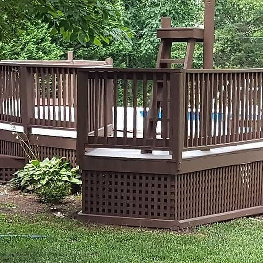 deck stained with a solid stain