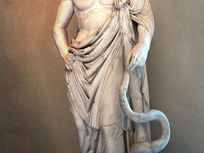 With a nod to Asclepius