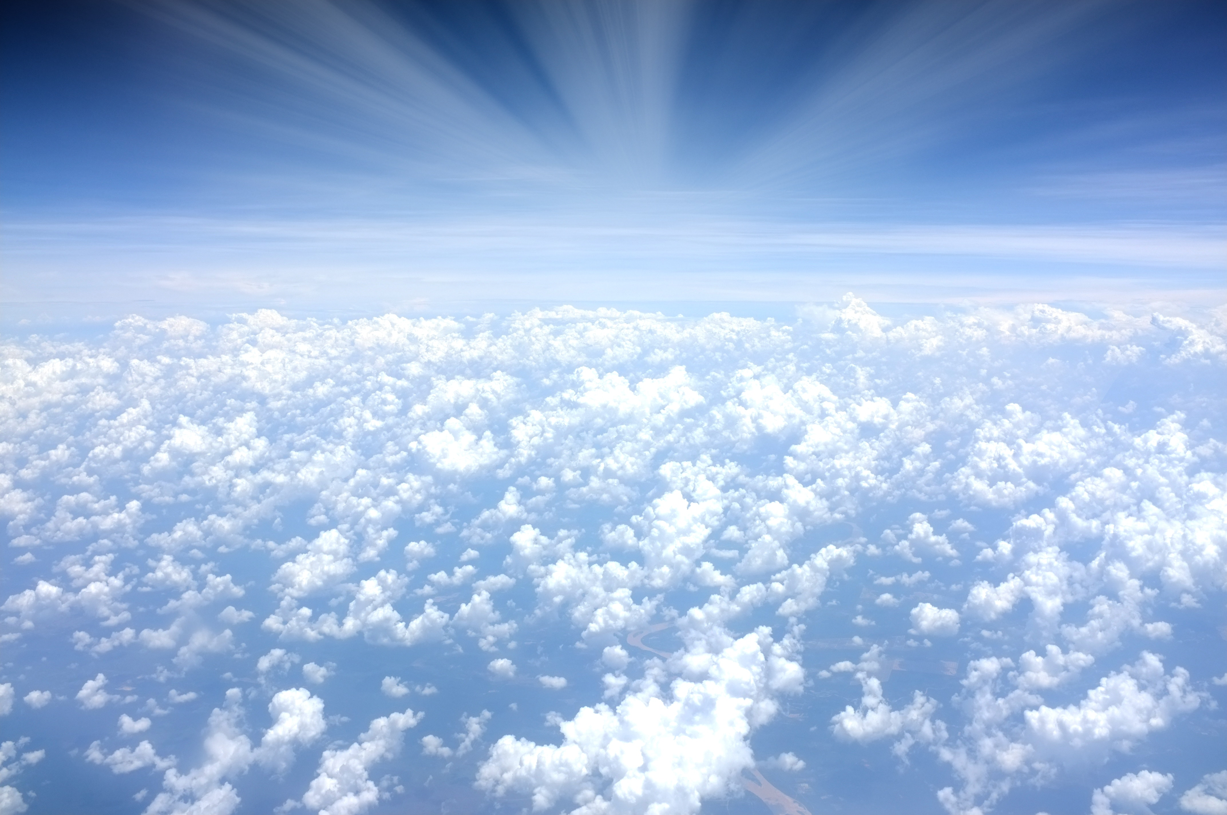 above clouds in the sky