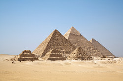 Pyramids of revered pharaohs