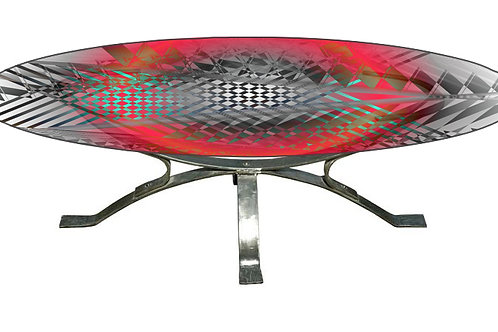 Table basse - Coffee table : Rouge fraise