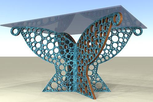 Table rectangulaire 4 pieds obliques : Cerclum