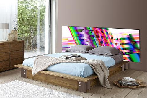 Tete de lit : Modèle Ondes 2