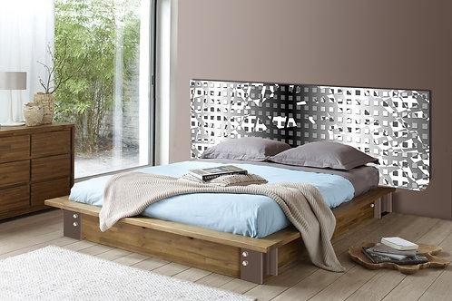 Tete de lit : Modèle Hastens gris