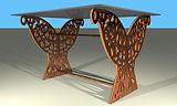 Pieds de table rectangle 4 pans droit bo