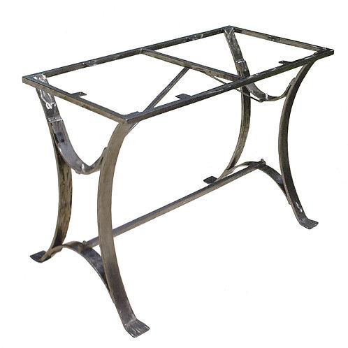 Pied de table rectangulaire : Fer forgé