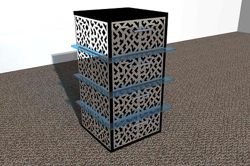 Table de nuit : Modèle Cubique