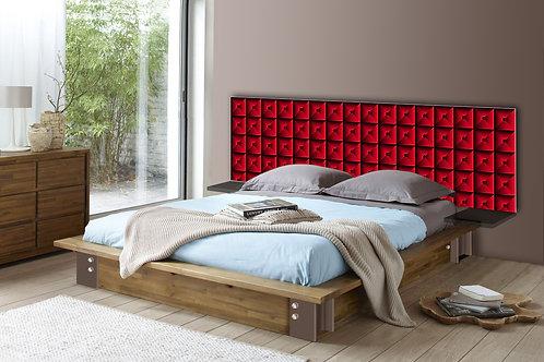 Tete de lit : Modèle Capiton rouge