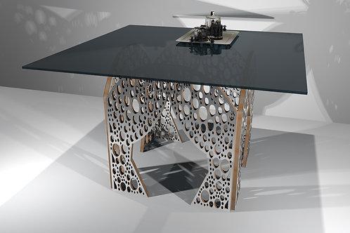 Table carrée 4 pieds droits - Modèle Cerclum