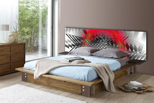 Tete de lit : Modèle Rouge fraise
