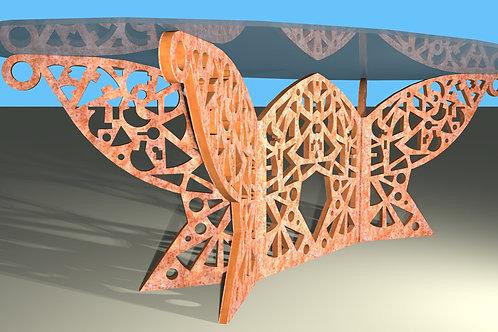 Grande table ovale : Modèle Papillon 5 pans