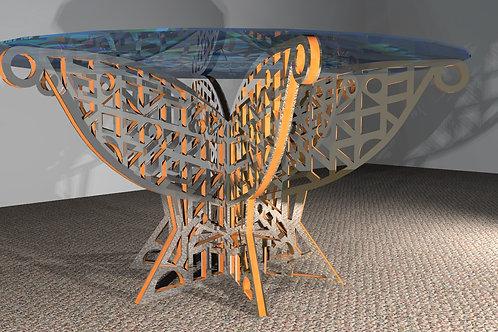 Table ronde 6 pieds : Modèle Art Déco