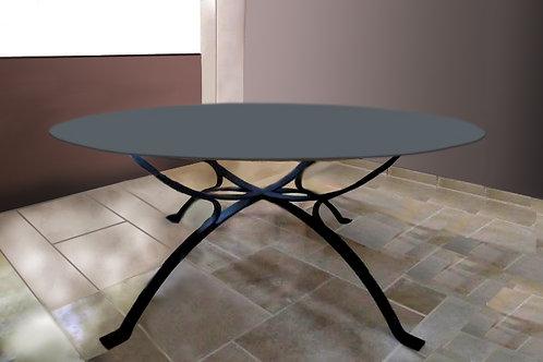 Table ronde : Modèle Verre gris