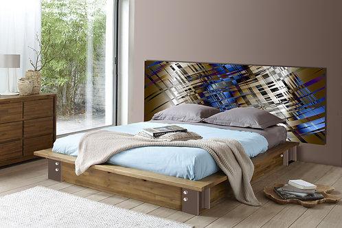 Tete de lit : Modèle Chocolat bleu