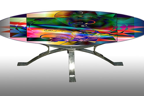 Table basse - Coffee table : Cadran solaire 4
