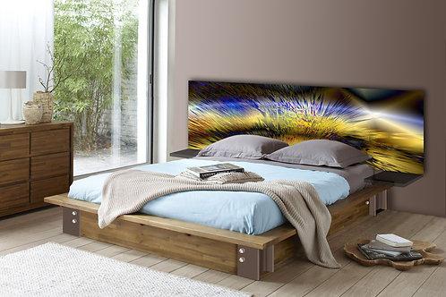 Tete de lit : Modèle Paon 2