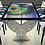 """Thumbnail: Table tableau : """"Au delà 4"""" bleu-pétrol - Modèle Cubique avec 6 sièges"""