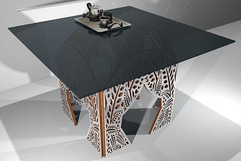 Table carré - Modèle Jungle 4 pans droits