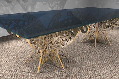 Grande table rectangulaire - 6 pieds : Modèle Papillon