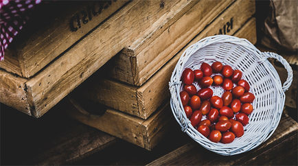 Cherry Tomatoes in basket