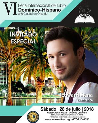 Invitado Especial en Feria Internacional del Libro Dominico-Hispana en Orlando.