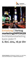 Architekt Strategie Marketing Management Honorar