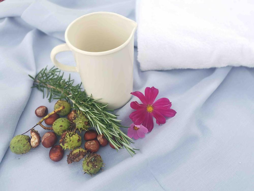 Rezept für Fußbad mit Kastanien von Katharina rührt